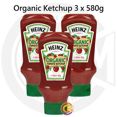 £11.45 • Buy Heinz Organic Tomato Ketchup Sauce Red Squeezy Bottles Pack Of 3 X 580g