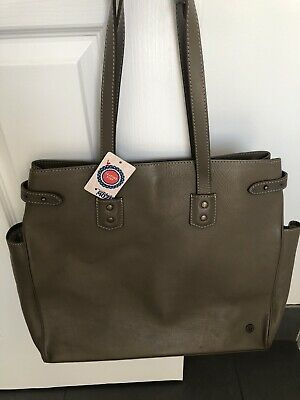 AU70 • Buy Unwanted Gift Near New MOZI Leather Bag In Taupe/Coffee In Colour RRP $279