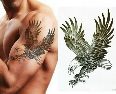 £2.99 • Buy Large Eagle Bird Temporary Waterproof Tattoos Sleeve Women Mens Arm Back Chest