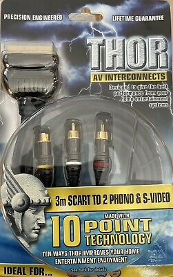Scart To 2 Phono & S-Video Lead • 8£