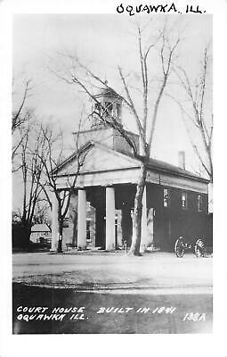 $ CDN12.47 • Buy Vintage RPPC Postcard Court House Oquawka Illinois Built In 1841 Real Photo