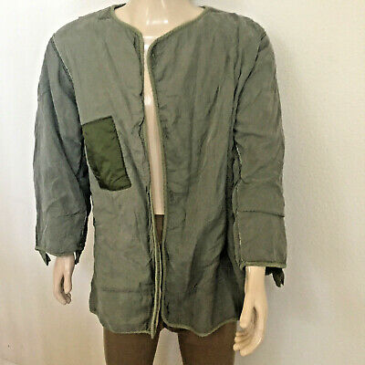 $14.99 • Buy M-1951, M51 Wool Frieze Fishtail Parka Liner (medium) With Sewing/patch Repairs