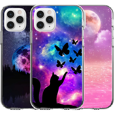 AU16.95 • Buy Silicone Cover Case Butterfly Cat Pink Moon Ocean Woods Trees Night Sky Stars