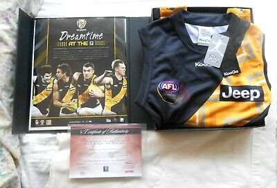AU999.99 • Buy AFL OFFICIAL RICHMOND Tigers SIGNED JERSEY DUSTIN MARTIN JACK RIEWOLDT COTCHIN