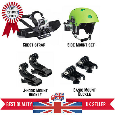 £4.99 • Buy GoPro Hero Action Camera Outdoor Accessories Kit Helmet Mount Chest Strap Set