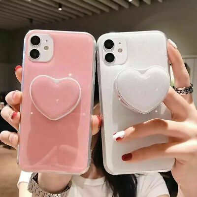 AU10.63 • Buy Heart Socket Stand For IPhone 12 11 Pro Max Case