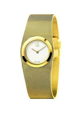 £138.86 • Buy Womens Watch CK CALVIN KLEIN IMPULSIVE K3T23526 Steel Gold Golden Mesh
