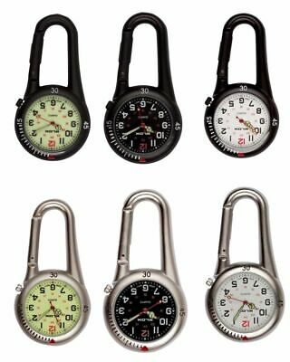 £7.95 • Buy Carabiner Clip On Belt Watches. Sports Fob Watch-Doctors,Nurses,Sports,Hikers