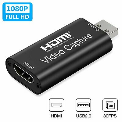 HDMI To USB 3.0 2.0 Audio Video Capture Card Game Recording Box & Live Streaming • 9.59£