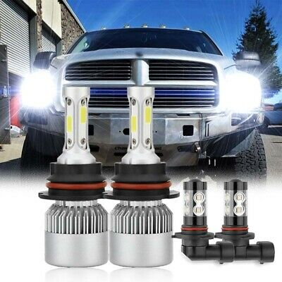 $23.99 • Buy For 2003-2005 Dodge Ram 1500 2500 3500 - 4X 6000K LED Headlight + Fog Light Bulb