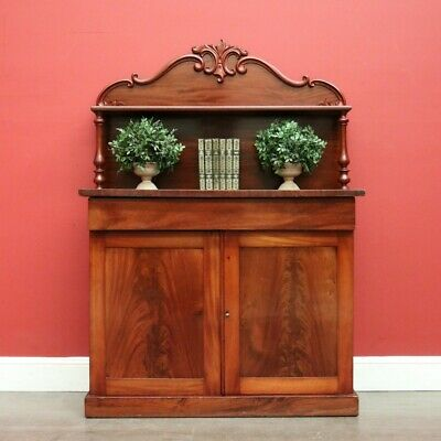 AU795 • Buy Antique English Chiffonier, English Mahogany Sideboard, Hall Cabinet Or Cupboard