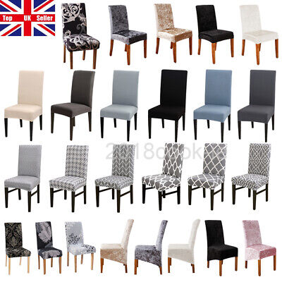 £3.69 • Buy Dining Chair Covers Slipcover Stretch Wedding Banquet Seat Cover Removable UK