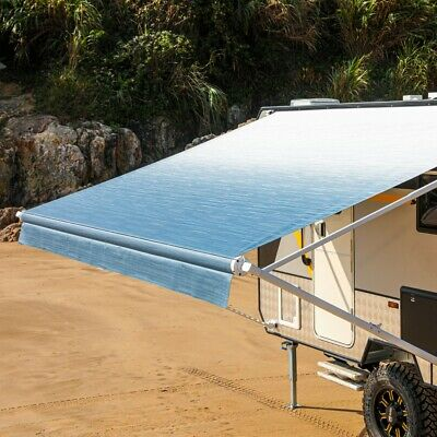 $ CDN875.48 • Buy ALEKO Retractable RV Or Home Patio Canopy Awning Blue Fade Color 16Ft X 8Ft