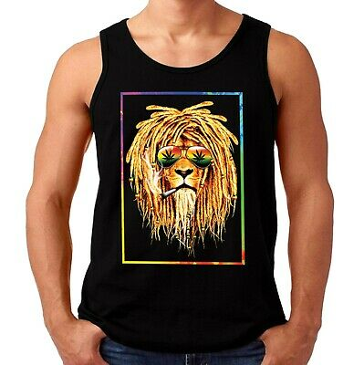 £10.25 • Buy Velocitee Mens Vest Chilled Out Rastafarian Rasta Lion A23672