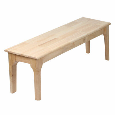 AU109.99 • Buy Dining Chairs Bench Solid Timber Kitchen Natural Wooden Bedroom Seat Oak 120cm
