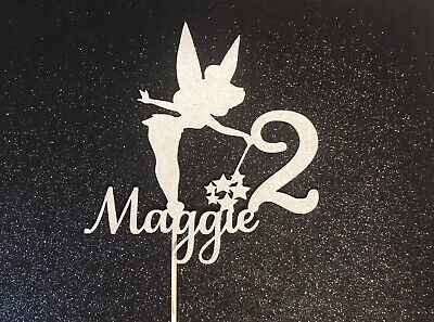 £3.99 • Buy Tinkerbell Cake Topper, Fairy, Magic Birthday Party, Cake, Glitter Card, Sparkle