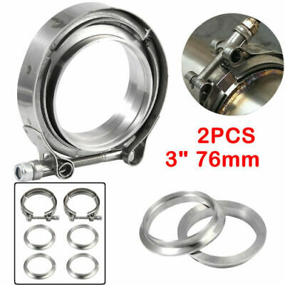 AU46.65 • Buy 2X Stainless Steel V-Band Vband Flange Clamp 3  76mm For Turbo Exhaust Downpipes