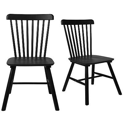 AU149.99 • Buy Levede 2X Dining Chairs Kitchen Natural Wooden Scandinavian Spindle Back Black