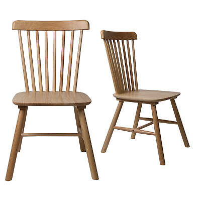 AU139.99 • Buy Levede 2X Dining Chairs Kitchen Natural Wooden Scandinavian Spindle Back Oak