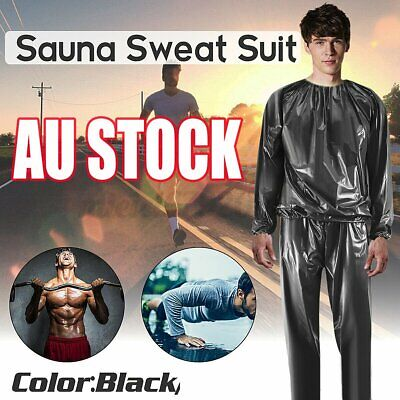 AU17.48 • Buy Heavy Duty Fitness Weight Loss Sweat Sauna Suit Exercise Gym Anti-Rip 2021 HBZ