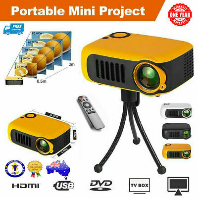 AU39.96 • Buy Mini Portable Pocket Projector HD 1080P LED Home Theater Video Projector AV NEW