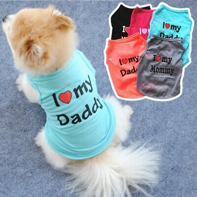 £3.47 • Buy Pet Dog Puppy Summer Vest Cute T Shirt Breathable Coat Jacket Apparel Top Outfit