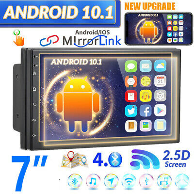 AU134.99 • Buy 7  GPS Navi Android 10.1 Double 2 DIN Car Stereo Radio WIFI BT Car MP5 Player