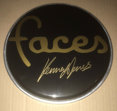 Signed Kenney Jones Faces Black Drum Head Rare Proof Authentic Small Faces • 99.99£
