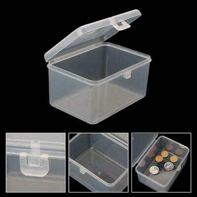 £3.08 • Buy Small Transparent Storage Box Cards Chip Hardware Case Holder Jewelry Organizer