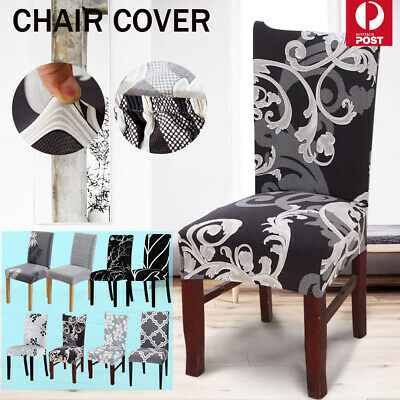 AU5.99 • Buy 1-8 PCS Dining Chair Covers Washable Wedding Banquet Party Stretch Chair Covers