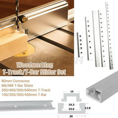 Aluminium Alloy T-Track T-Slot Miter Jig DIY Table Woodworking Router Tool Uk