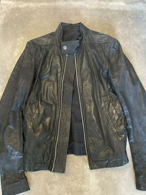 £410.69 • Buy Rick Owens Authentic Leather Riders Jacket Black Size 46 Used From Japan