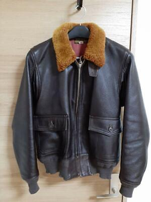 $923 • Buy REAL McCOY'S Auth Leather Jacket M‐422A Size 40 Seal Brown Used From Japan