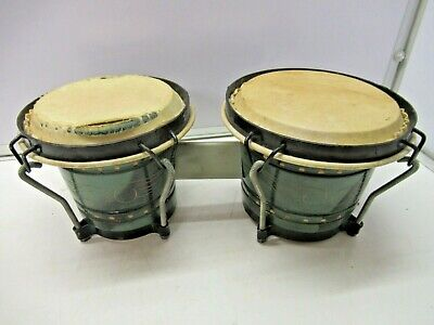 """£25 • Buy Vintage Percussion Bongos With Calf Skin Heads 6¾"""" & 7½"""""""