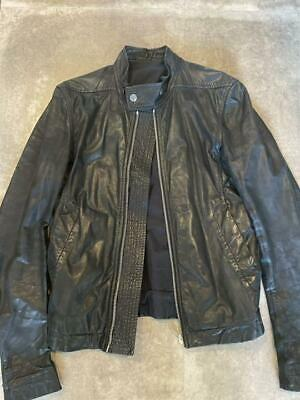 £451.03 • Buy Rick Owens Authentic Leather Riders Jacket Black Size 46 Used From Japan