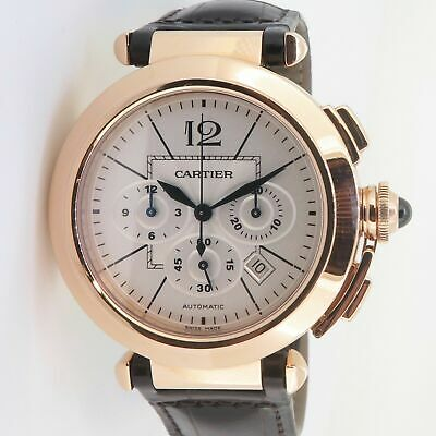 £10092.18 • Buy .Auth Cartier Pasha Automatic Chronograph 42mm 18k Rose Gold Watch Box+Docs 2863