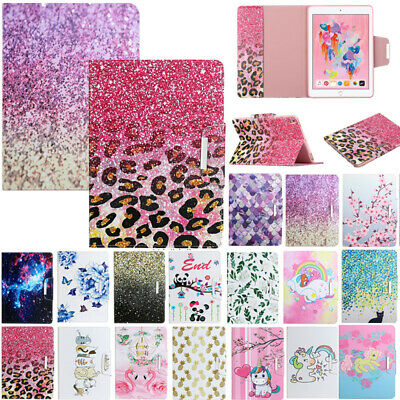 AU21.89 • Buy For IPad 5/6/7/8th Gen Air Mini Patterned Smart Magnetic Wallet Stand Case Cover