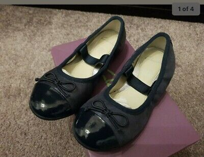 £6.60 • Buy New Clarks Girl's Navy Leather Dance Puff Girls Shoes Pumps UK Size 10.5F