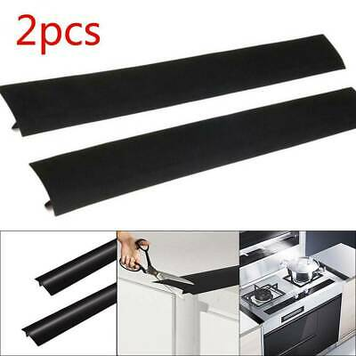 £4.49 • Buy 2x Silicone Gap Cover Stove Counter For Cooker Spill Guard Seal Filler Worktop