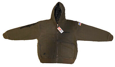 $ CDN157.29 • Buy NEW Size Small Snap On Tools Men's Brown Winter Coat Jacket Free Shipping To USA