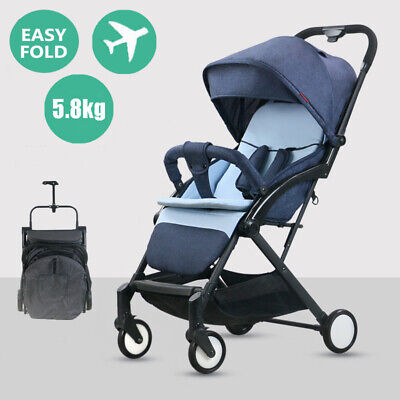 AU99.47 • Buy Compact Foldable Baby Stroller Portable Lightweight Travel Pram Carry On Plane