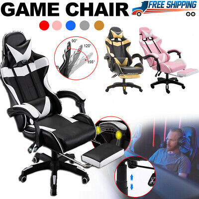 AU109.77 • Buy Racing Gaming Chair Office Executive Swivel Recliner PU Computer Desk Chair
