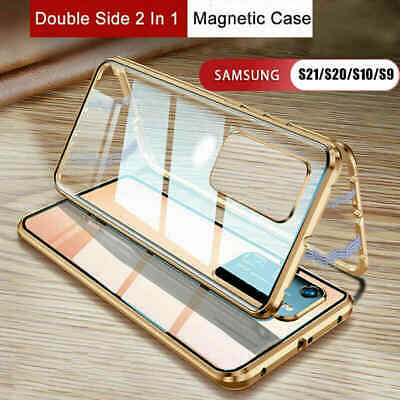 AU20.99 • Buy 360° Magnetic Case For Samsung S21 S20 Note20 S10 S9 Double Sided Tempered Glass