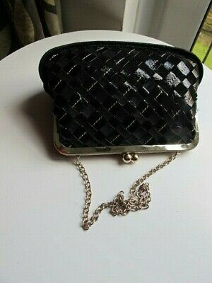 £15 • Buy DKNY Evening Purse Bag Pleated Leather Chain Handle