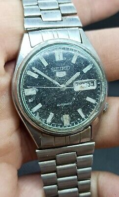 $ CDN24.19 • Buy Vintage Seiko 5 Automatic For Parts Movement No.6309A Japan Made Men's Watch.