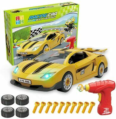 £16.99 • Buy *FREE POST*Enllonish BUILD YOUR OWN Racing Car Construction Toy Kit Sound Lights