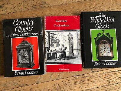 3 Books By Brian Loomes, White Dial Clock, Country Clocks, Yorkshire Clockmakers • 18£
