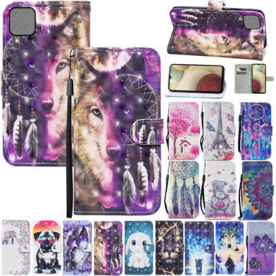 AU14.89 • Buy For Samsung S8 S21Ultra S20FE Patterned Flip Leather Magnetic Wallet Case Cover