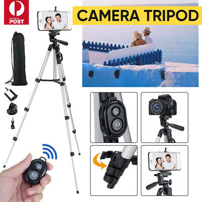 AU12.50 • Buy Professional Camera Tripod Stand Mount + Phone Holder For Phone IPhone Samsung