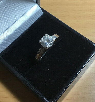 $ CDN22.21 • Buy Vintage 925 Silver Diamonque Ring Size L
